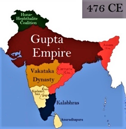 Indian subcontinent in 476 CE (PC - indiatimes.com)
