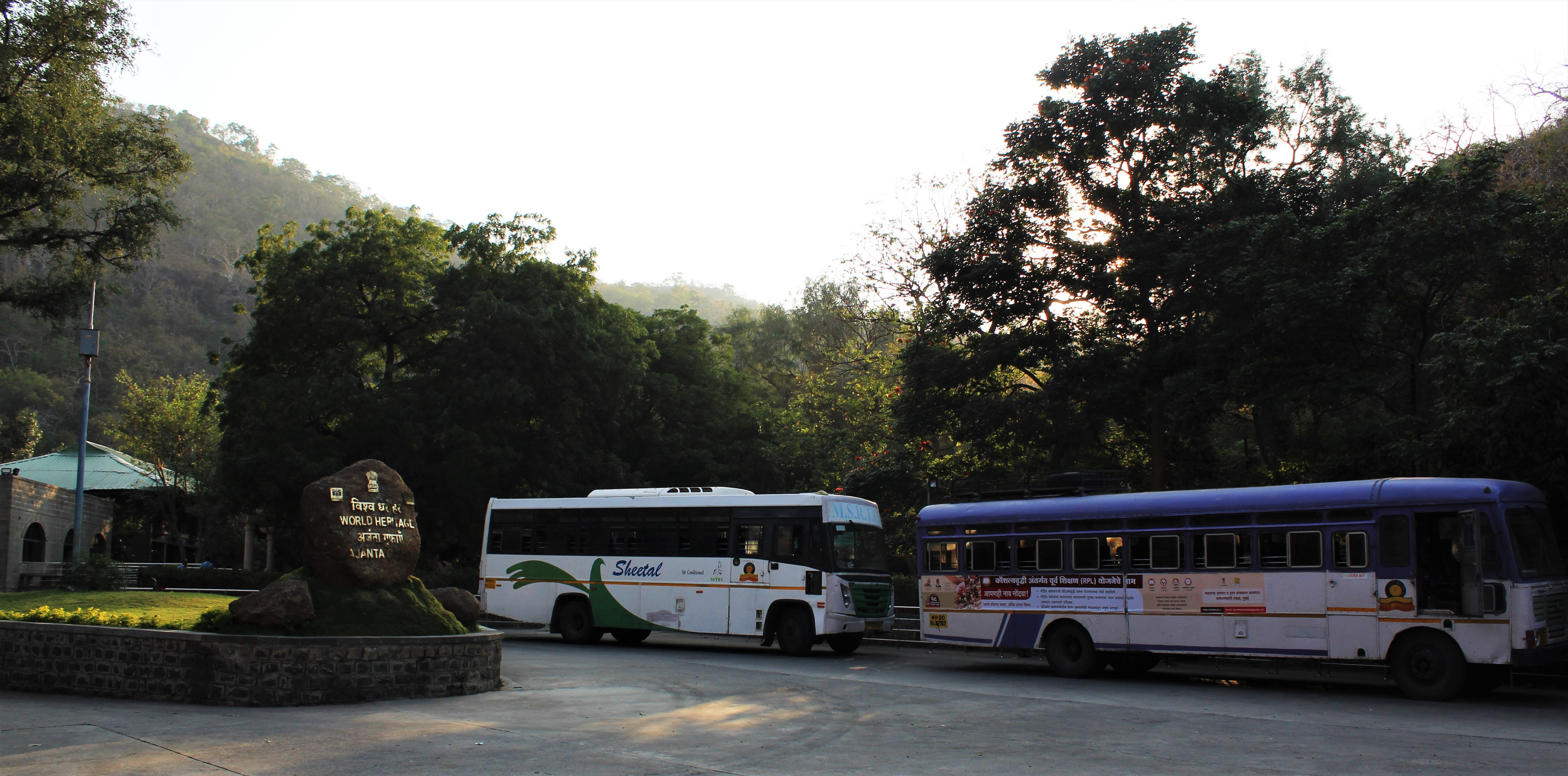 The Visitor Centre; buses are available to take the tourists to the Caves located higher up the ridge