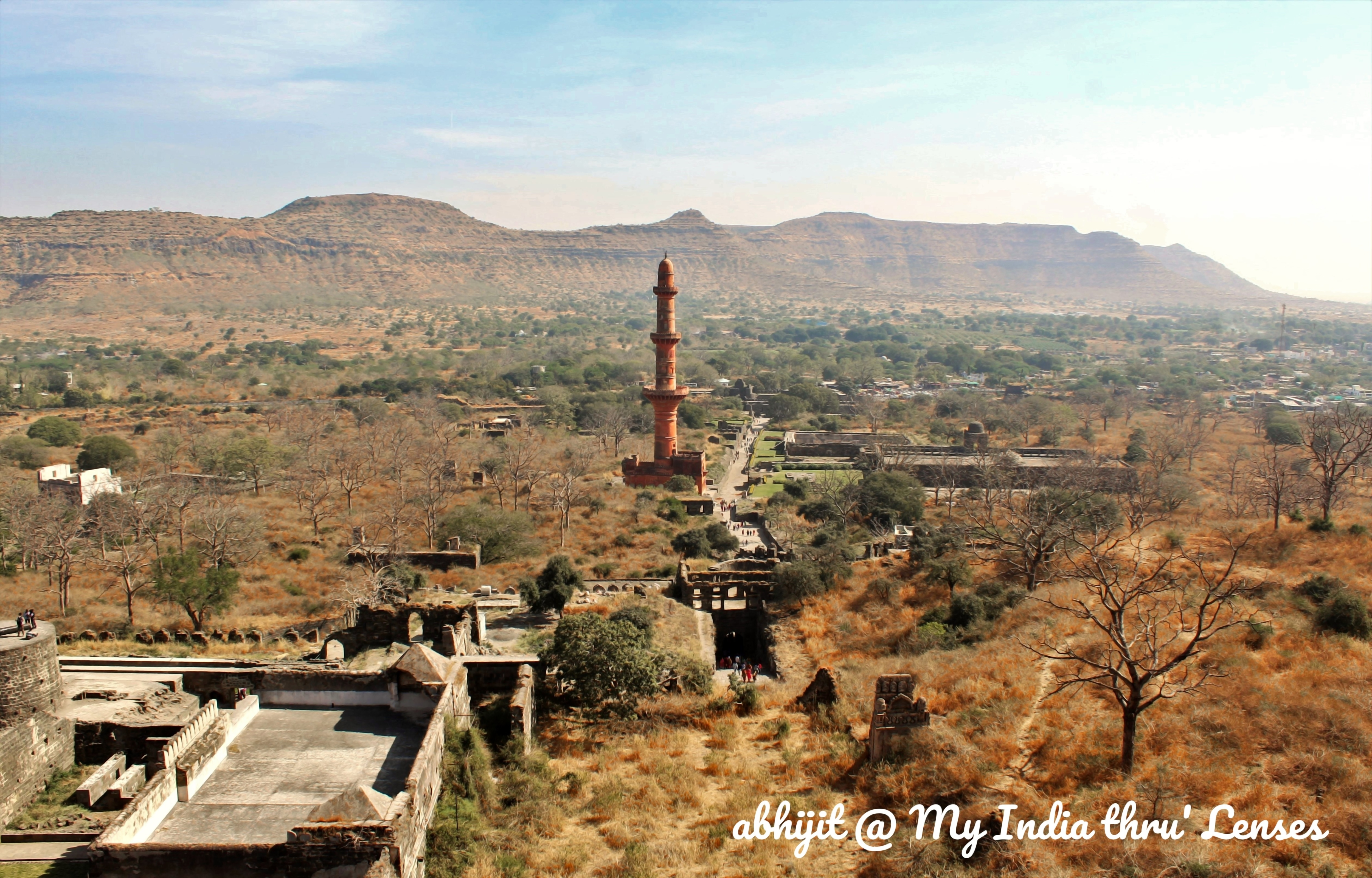 A view of the Chand Minar while we climb the steps towards the Summit